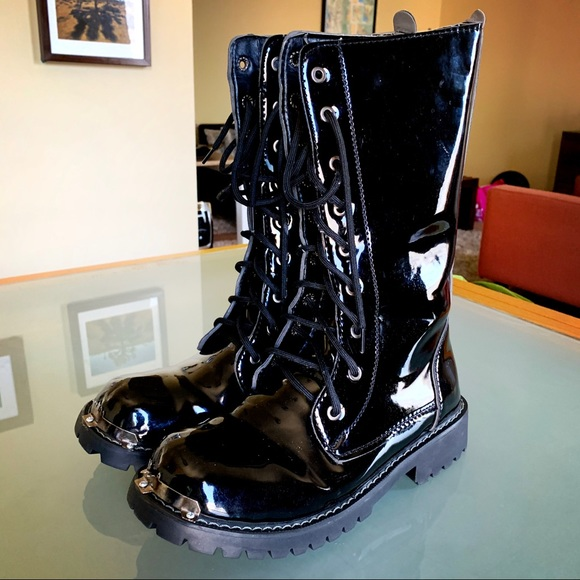 Other - Men's 7.5 Shiny Motorcycle Boot
